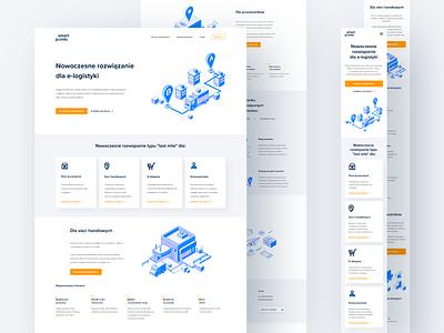 SmartPoints Website flat ux icon ui landing page webdesign layout landingpage web design