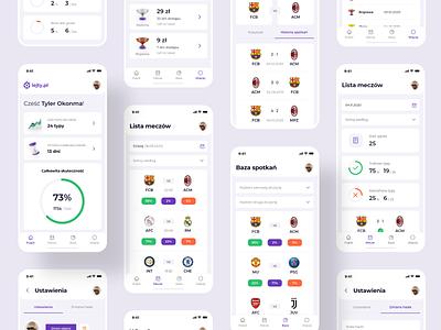 ⚽ lejty.pl - Mobile web app mobile app mobile flat minimal app ux ui webdesign web layout design