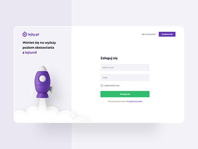 ⚽ lejty.pl - Login page onboarding login landing page ux webdesign ui web layout branding design