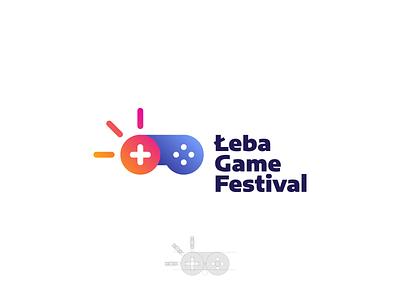 Leba Game Festival esport gaming event festival game leba beach sun vector logo design branding