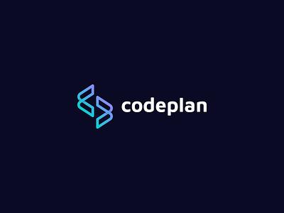 Codeplan company branding html css html cp monogram codeplan plan code programming vector logo design branding