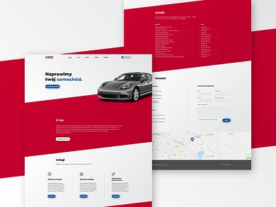 Auroservice Website landingpage landing page landing layout porsche webdesign web website mechanic garage service car auto design branding