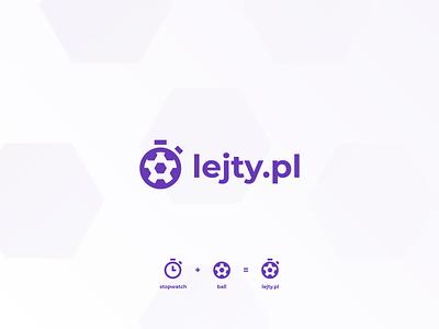 Lejty.pl Logo bookmaker sports logo stopwatch football sports sport ball lejty logotype logo vector design branding
