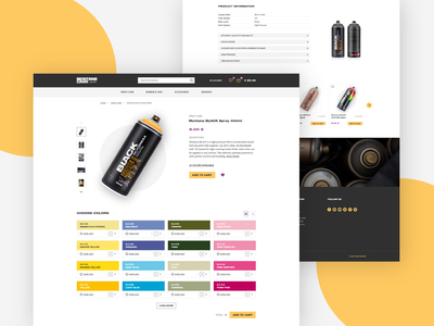Montana Cans Product Page ux ui landing page landingpage webdesign web layout vector design branding