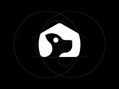 Fundacja Bezdomniaki Grid foundation organization home house animal dog grid logo build grid logo vector branding design