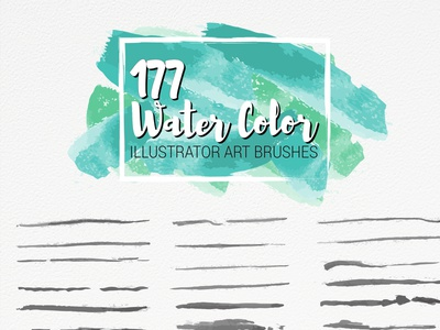 Water Color Art Brushes design illustration brush set watercolor ai brush vector brush illustrator brush illustrator