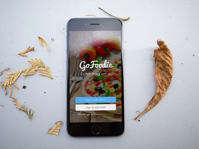 GoFoodie Welcome Screen Design