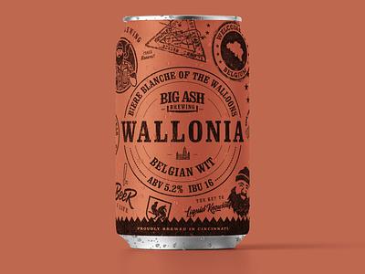 Wallonia Belgian Wit Beer Can Design beer label label design beer design packaging brewery branding brewery beer can design