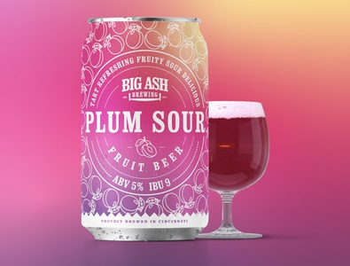 Plum Sour Beer Can Design