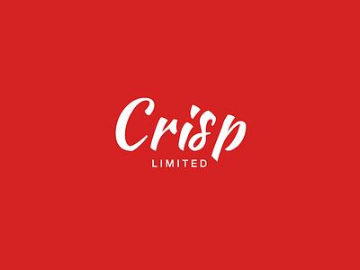 Crisp Limited Logo logo logotype red font fonttype c flat white