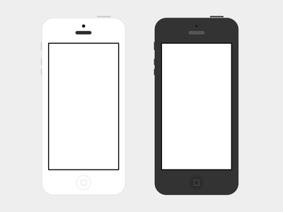 iPhone 5 Flat B/W PSD