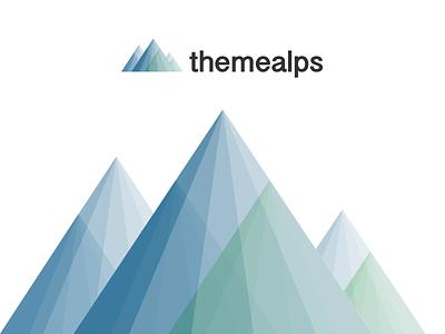 Themealps - Wordpress Theme Shop wordpress themes logo mountain alps blue green