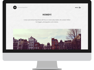 Air - WordPress Theme wordpress theme minimal clean blog creative gray air template website web design