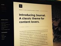 Journal - WordPress theme
