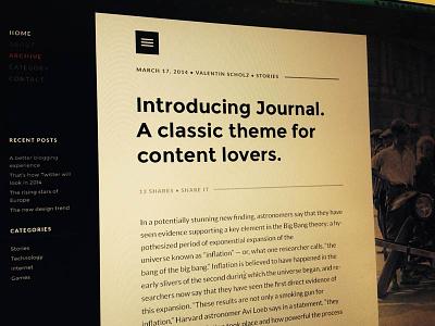 Journal - WordPress theme wordpress theme website web design clean minimal white black template blog