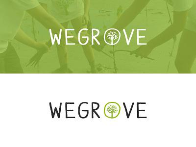 WeGrove Logo logo logotype green tree eco