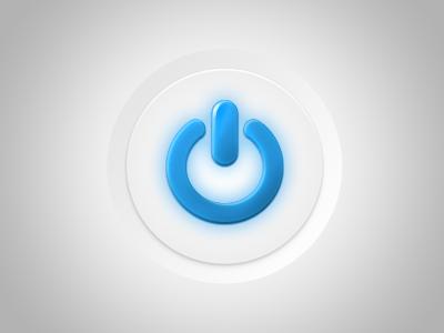 Power Button power icon button ui clean bright