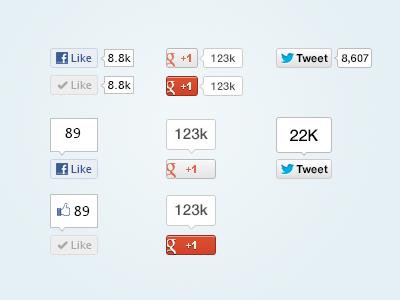 Vector Social Media Buttons psd facebook twitter google plus button vector freebie free download