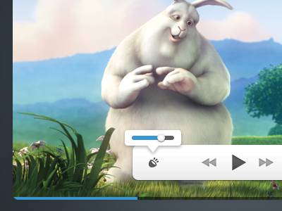 Custom Video Player Interface video player ui video psd freebie download clean minimal