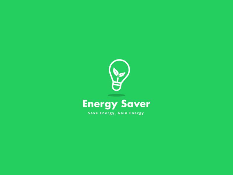 Energy Saver Logo website flat web startup logo minimal design vector app logo icon