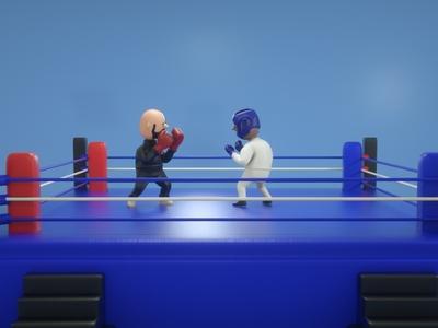 BoxingTime sport boxing ring toy design plastic octanerender octane maxonc4d material illustration design cinema 4d character animation 3d