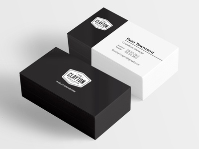 Business Card Design - The Clayton