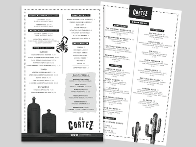 Menu Design - El Cortez