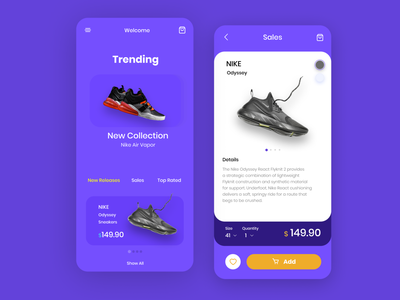 Online Shoes Store fashion nike ecommerce shopping online store online shop shop store clean mobile ui mobile ios app android ios app design minimal branding ux ui