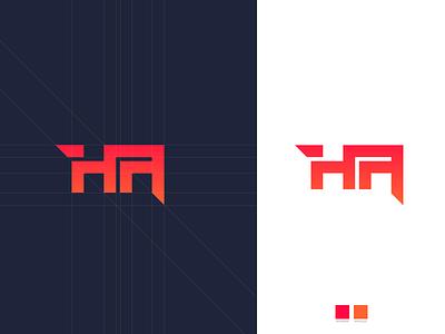 HA Logo Work typogaphy design illustration photoshop icon rectangular clean brand design branding design brand identity branding logo type logos logodesign logo design logotype logo