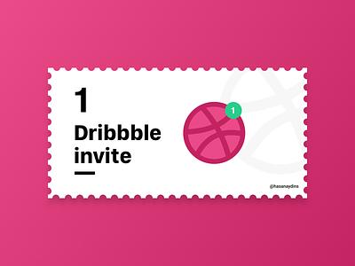 1 Dribbble Invite mobile designs invite design logo clean app minimal branding design ux ui invitation invite dribbble invite dribbble