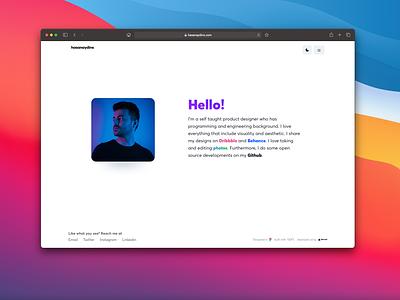 Personel Website Rebuild personal bigsur macos development portfolio site portfolio web design web branding minimal design ux ui