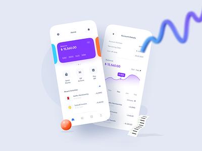 Mobile Bank App startup modern colorful minimal bank app bank financial app mobileapp mobile ui finance app finance mobile app mobile app design ux ui