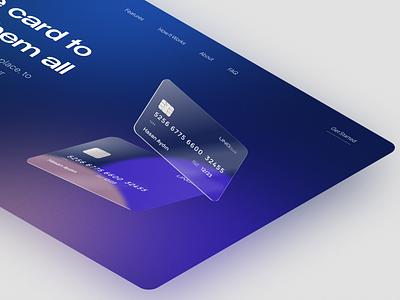 UNQ Bank 💳 | Landing Page landing page fintech banking modern hero website landing finance credit card bank gradient clean minimal design ui