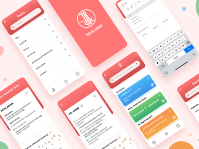 Redesign Turkish Dictionary App redesign colorful ui design uidesign uiux mobile design mobile app design mobile ui mobile app mobile minimal branding app flat design ux ui