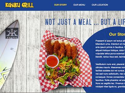 Kahuku Grill Website kahuku kahuku grill restaurant web design website hawaii north shore