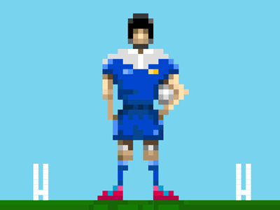 8 bit Rugger rugby 8 bit pixel person rugger
