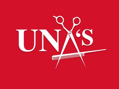 UNA'S Barber Shop logo brand logo barber