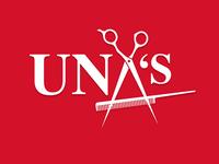 UNA'S Barber Shop logo