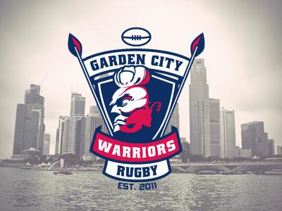 Garden City Warriors Rugby Club sports rugby logo