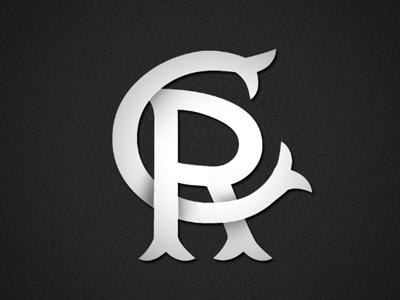 CR typography logo monogram
