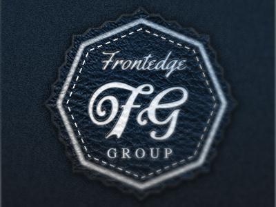 Frontedge Group logo typography texture monogram