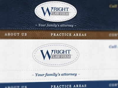Wright Law Firm law law firm ux ui web design navigation brand
