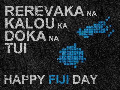 Fiji Day fiji day typography fiji texture text