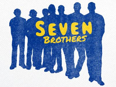 Seven Brothers logo brand identity typography