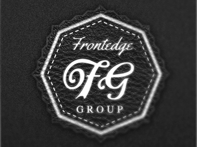 Frontedge Group Re-bound logo brand identity typography leather