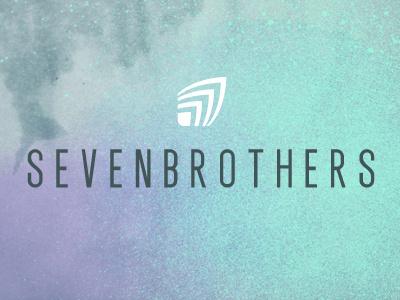 SEVENBROTHERS logo brand identity typography surf splash