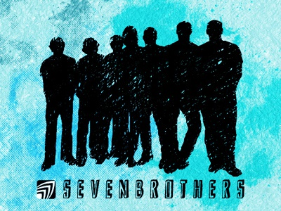 SEVENBROTHERS sevenbrothers laie logo silhouette icon texture