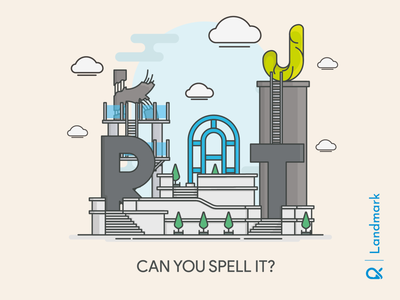 Can You Spell It ? architect unique design unique artwork architecture illustration vector landmark cityscape building design