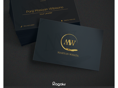 Masiyan Wisata Business Card card mockup business card mockup business card design business card brand identity brand artwork vector branding logo design