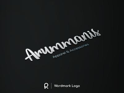 Arummanis Wordmark Logo branding brand brand identity logo design logotype logo